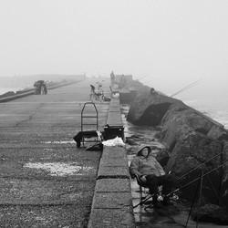 Visser op pier 3