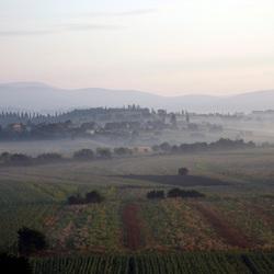 Ochtend in Umbrië, Italië