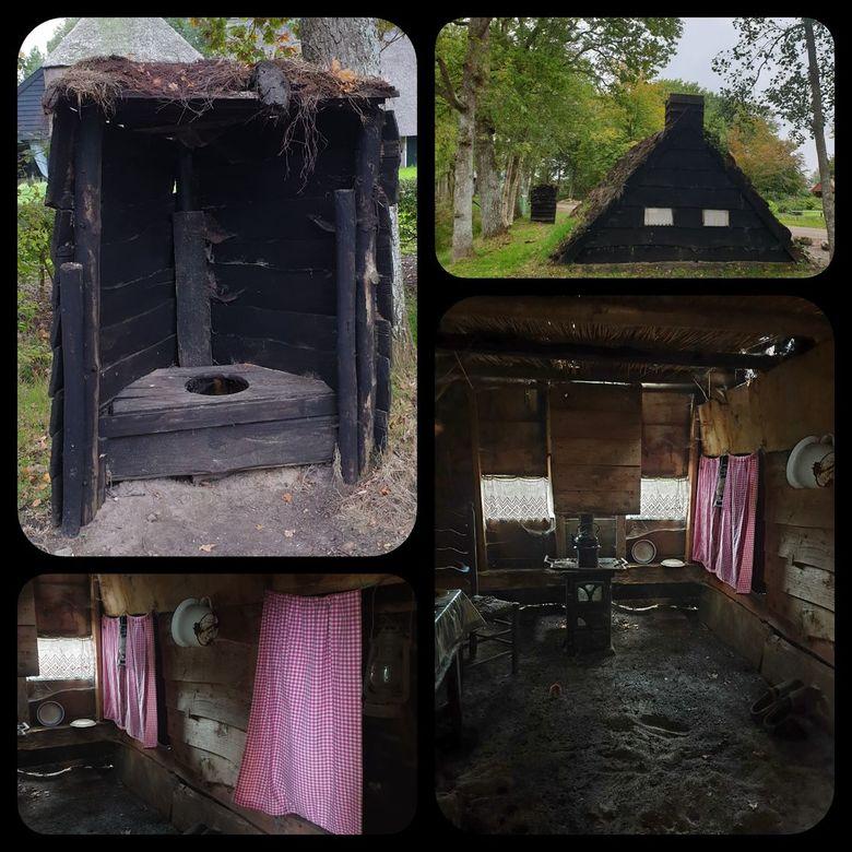 Plaggenhut Echten - IN echten hebben bewoners een plaggenhut nagebouwd.1981 en staat  tegen over een landgoed.gr Bets