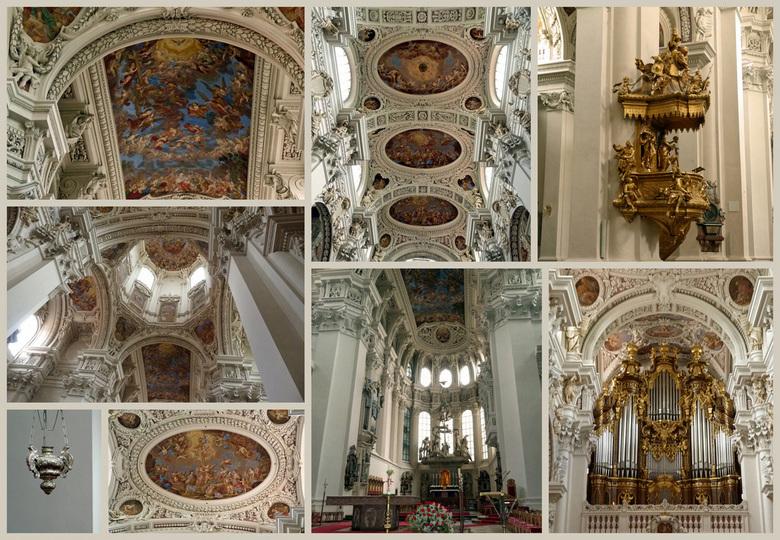 Interieur Dom van Passau.jpg - De Dom St. Stephan in Passau is een uit 1668 daterende kathedraal. Het is de hoofdkerk van het bisdom Passau. (D.)<br /