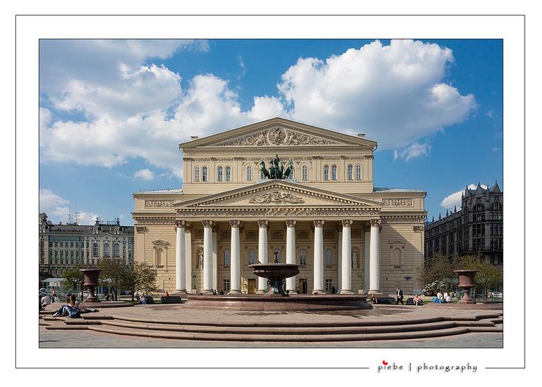 Bolstoi theater Moskou - Hier een foto van het wereldberoemde Bolstoi theater in Moskou. Echt een geweldig mooi stukje architectuur.<br /> <br /> Gr
