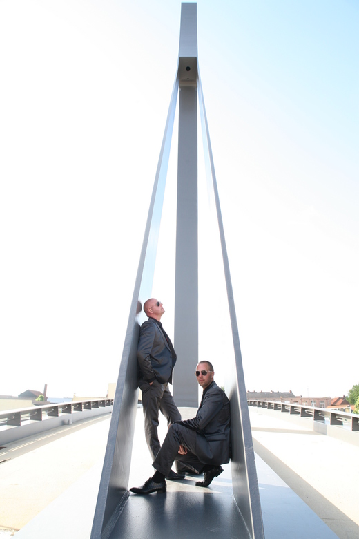 Armani - shoot tijdens gay-huwelijk