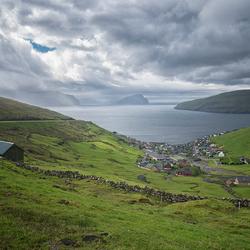 The small village of Kvivik, Faeröer