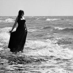 An het strand