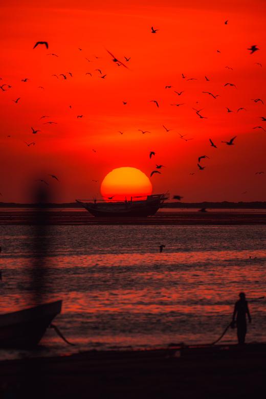 Zonsondergang Oman -