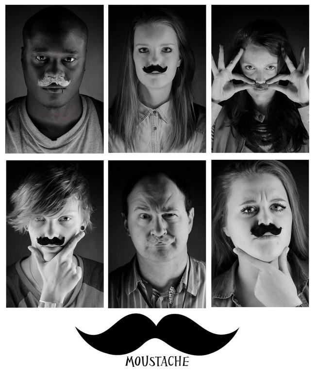 Moustache - Ik heb een collage gemaakt van enkele Moustache portretjes!