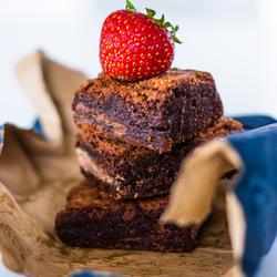Brownies aardbei