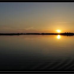 Minimalistische zonsondergang
