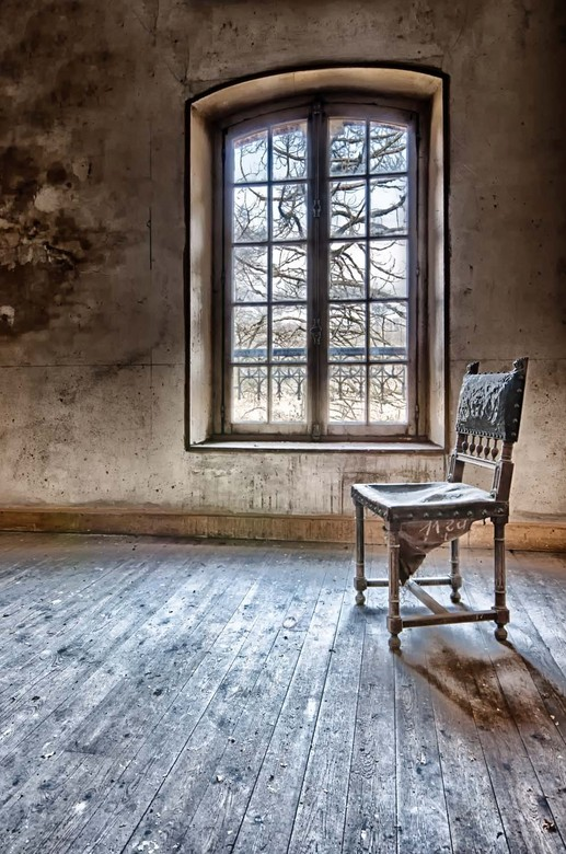 The lonely chair  - near the window