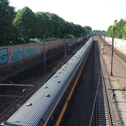 Passerende trein, Rijswijk