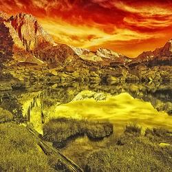 Golden Sunset over.........