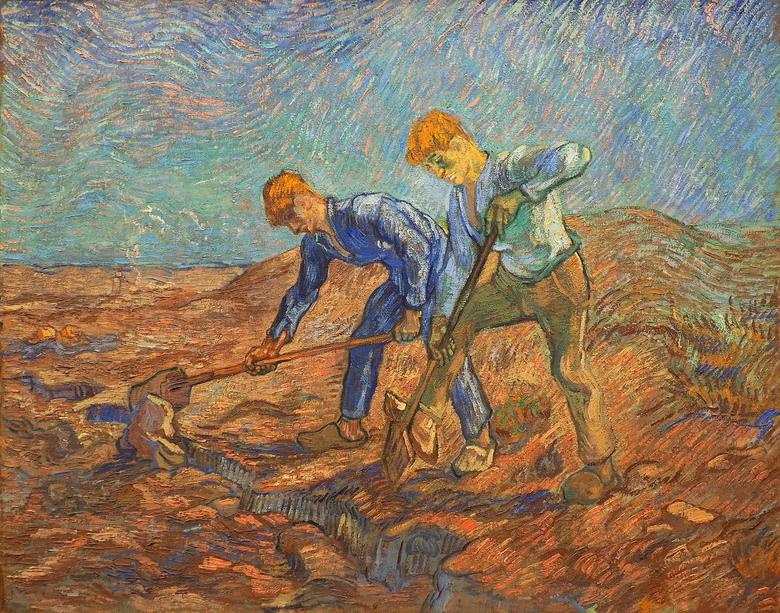De Spitters - Ook hier  een meesterwerk van Vincent van Gogh ...de kleuren in overvloed