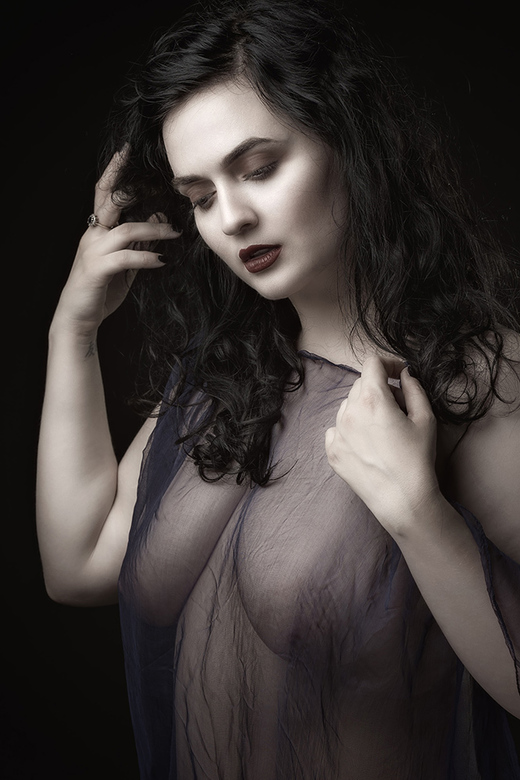 in diaphanous blouse - ClaireMarie