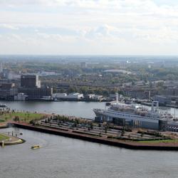Rotterdam Skyline and SS Rotterdam