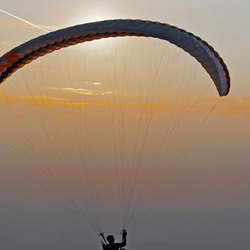 Fly with me towards sunset ...☺!