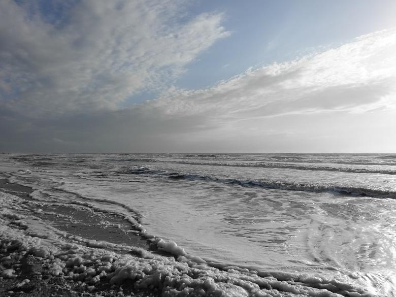 Woeste zee - Texel de Koog