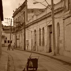Stratenveger in Cuba