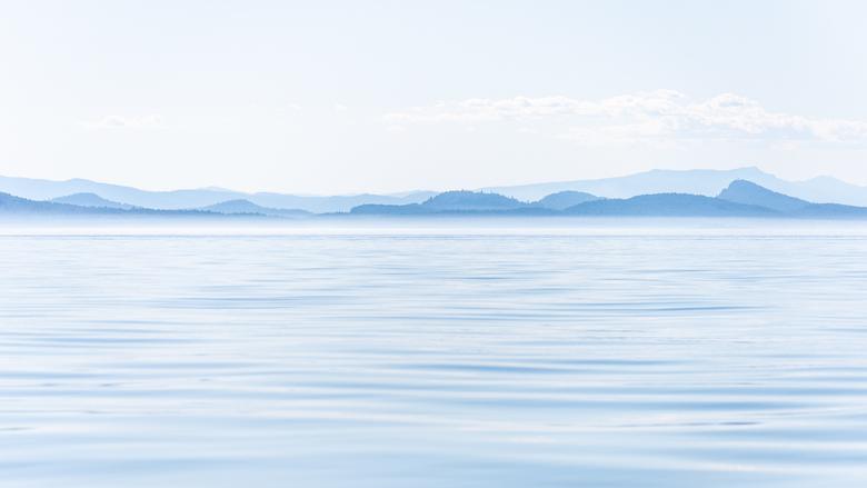 Rustiek Canada - De laatste boottocht van de dag vanuit Victoria langs Vancouver Island in Canada gelegen in de provincie British Columbia. Het was pr