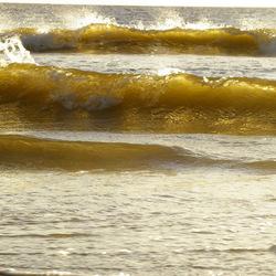 De zon IN de zee