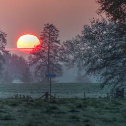 Mooie maar koude zonsopkomst