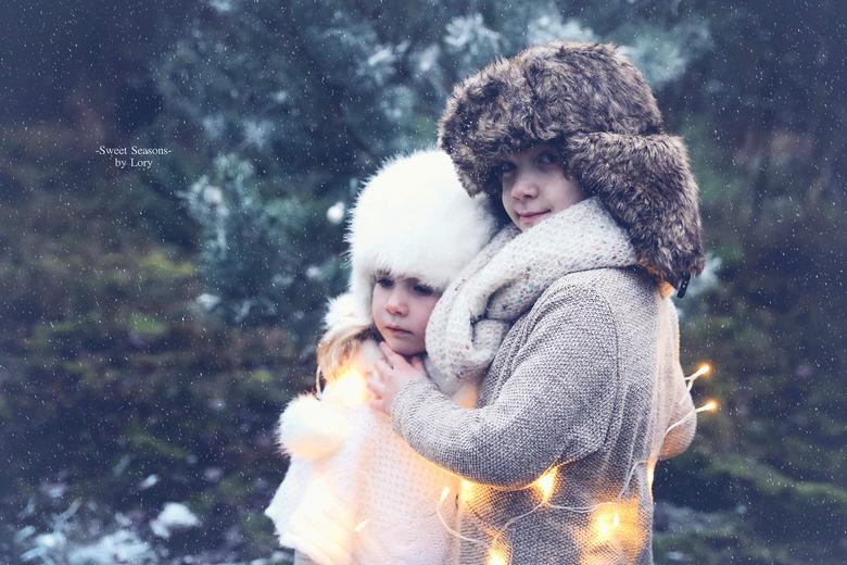 Let it snow - broer en zus in de 'sneeuw'