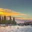 Amstel bij zonsondergang