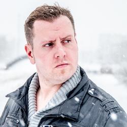 op het oog in de sneeuw