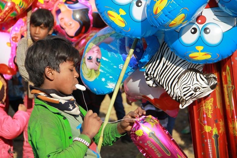 Pokhara festival - Een foto genomen tijdens het festival in Pokhara, Nepal. De laatste 4 dagen van het jaar staan in deze plaats aan de voet van de Hi