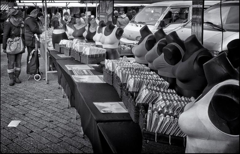 markt - Marktstal op de markt in Rotterdam.