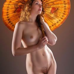 under parasol