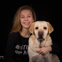 Aimée met hond Saar