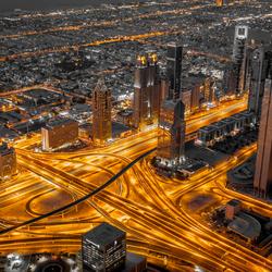 Dubai view vanaf Burj Khalifa