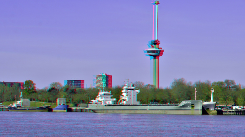 Euromast Rotterdam 3D hyper-stereo - anaglyph stereo red/cyan