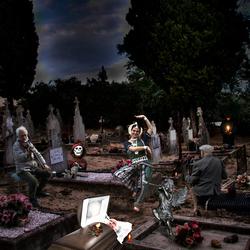 vrolijkheid op het kerkhof
