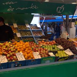 markt in centrum Groning