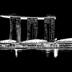Singapore in zwartwit.
