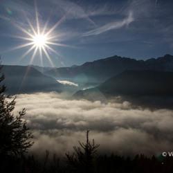 Finhaut boven de wolken