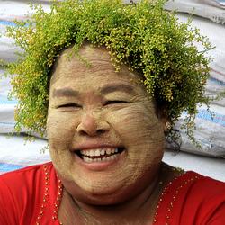 Marktkoopvrouw Myanmar