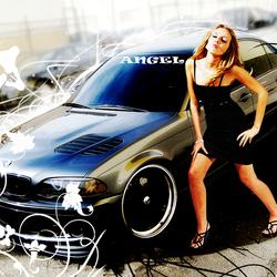 Model Angel & Car