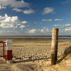 Eenzaam strand.