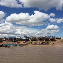 Floating houses in Cambodja