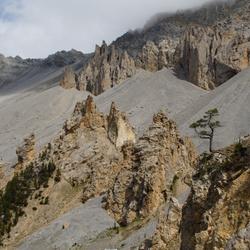 Nietig, onderweg in de Franse Alpen
