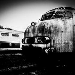 treinstel dat wacht op sloop