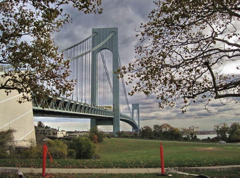 Verrazano Narrows Bridge New York - Om van Staten Island richting Manhattan te gaan, moet je over deze lange brug.