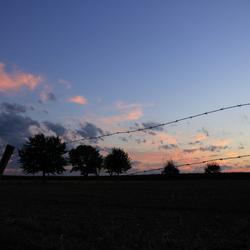 Cloudy Belgian border sky