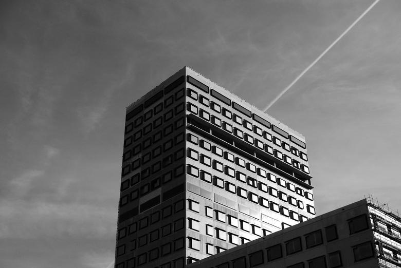 """ZNA Cadix - Antwerpen - Zicht op het nieuwe ziekenhuis van Antwerpen in de buurt van het eilandje, """"ZNA Cadix""""."""