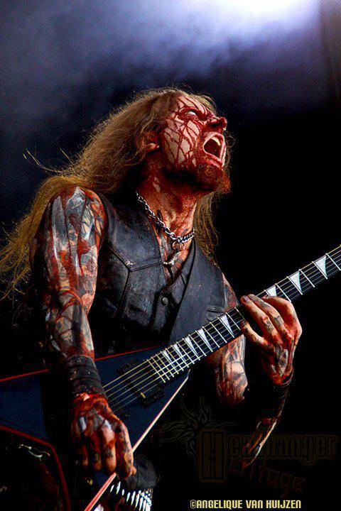 Zombie Gitarist - Belphegor op Metalcamp 2011
