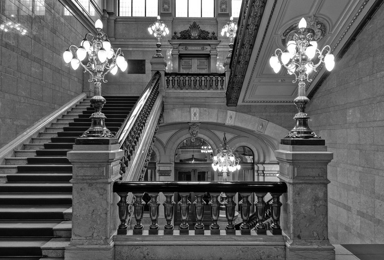 das Treppenhaus - Trappenhuis in het stadhuis van Hamburg