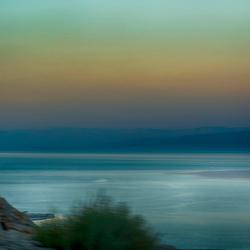 rijden langs de Dode Zee