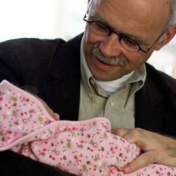 Papa met zijn nichtje Sophie